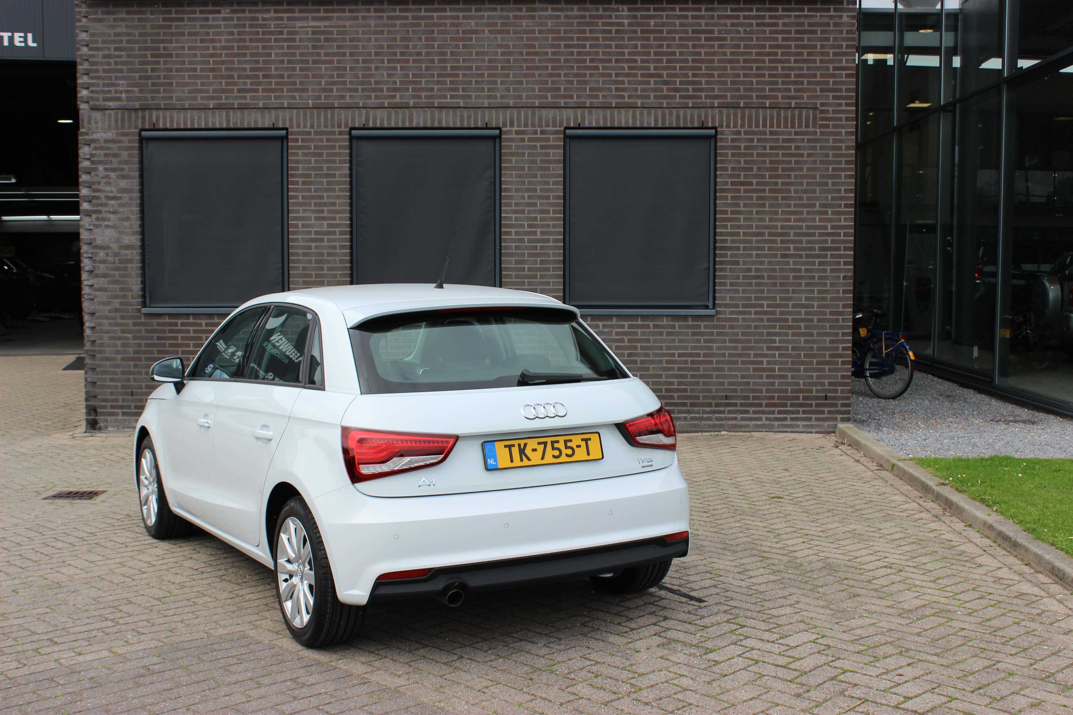 Audi A1 achterkant wit